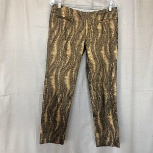 Alvin Valley Thirty-six Brocade Cigarette Pants